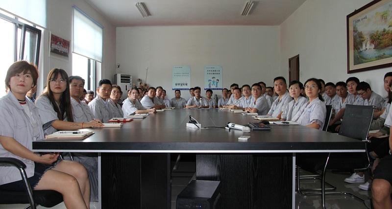青岛中新华美全体员工观看安全生产警示教育片