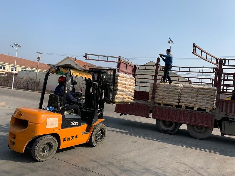 公司往外地发货的车辆安排在厂外装货