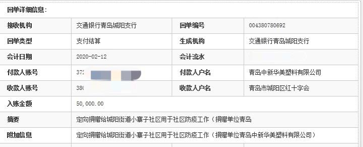 中新华美向小寨子社区捐赠5万元人民币